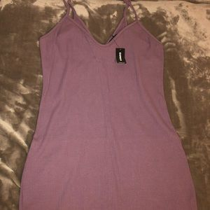 *FREE* Lavender Ribbed BodyCon Dress
